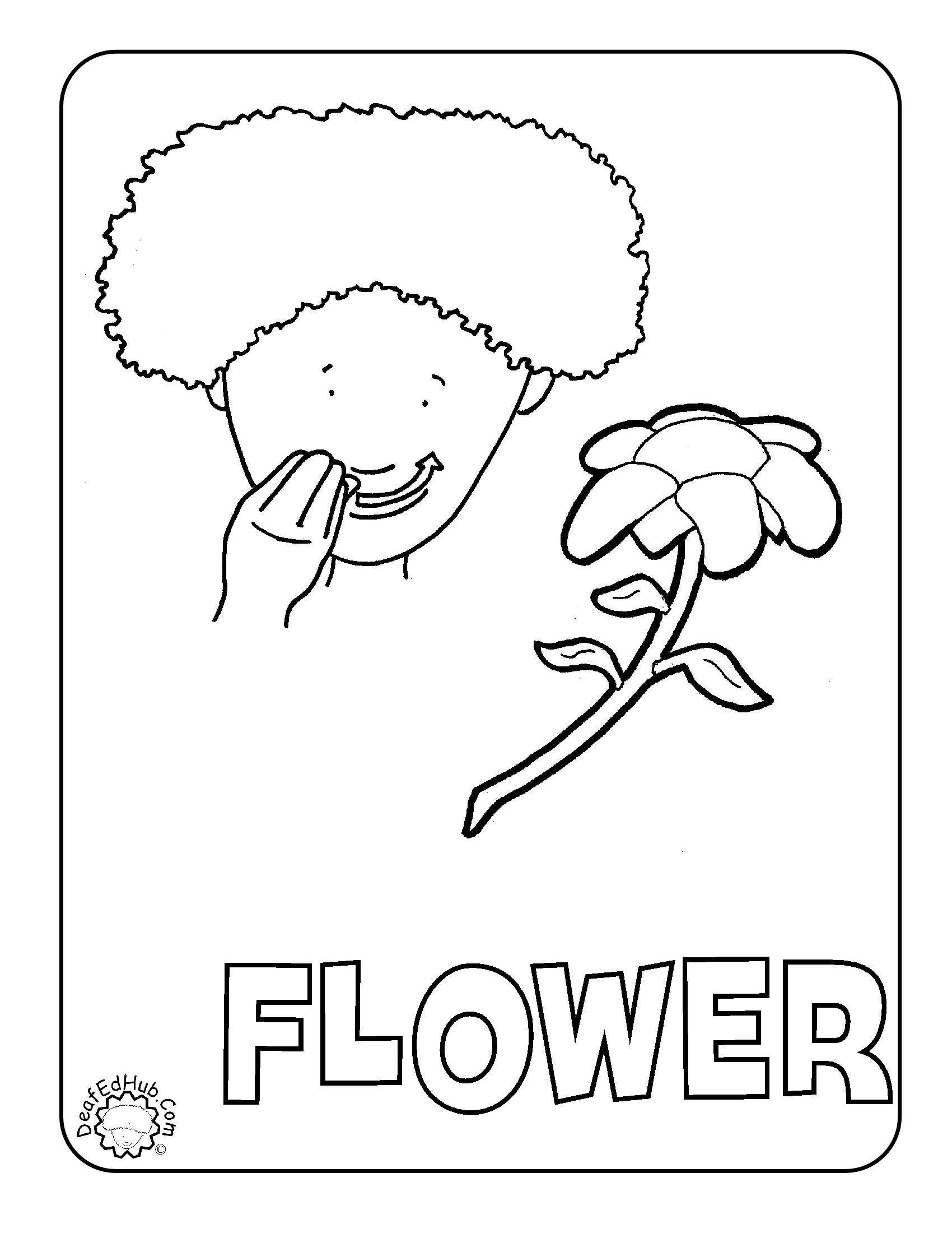 flower coloring ASL We have a few new coloring pages up