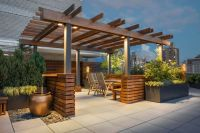 Exterior:Excellent Home Roof Top Terrace Design Using ...
