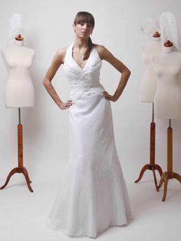 Schlichtes Hochzeitskleid Neckholder Brautkleider Schlicht