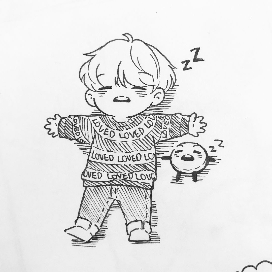 Drawings Easy Bts Suga Chibi