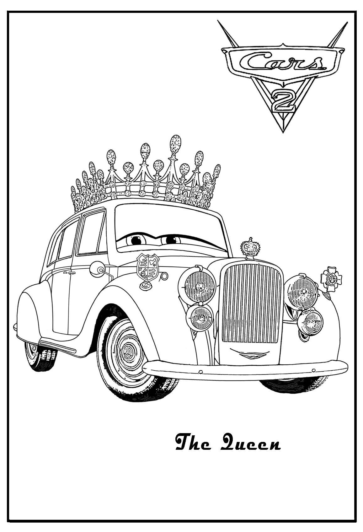 Cars 2 Printable Coloring Pages Cars Coloring The Queen Cars