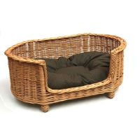 Luxury Large Wicker Dog Bed Basket Settee | Dog Beds That ...