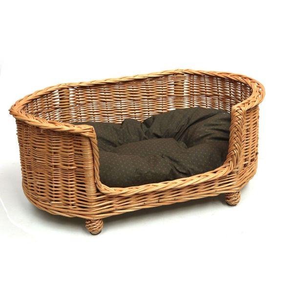 Luxury Large Wicker Dog Bed Basket Settee Beds