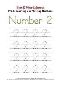 Pre-K Trace Number 2 Worksheet | books_art | Pinterest ...