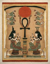 Egyptian Art Print Ancient Goddess Is and Nephthys Wall ...