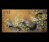 Canvas Wall Art Japanese Cherry Blossom Painting Feng Shui ...