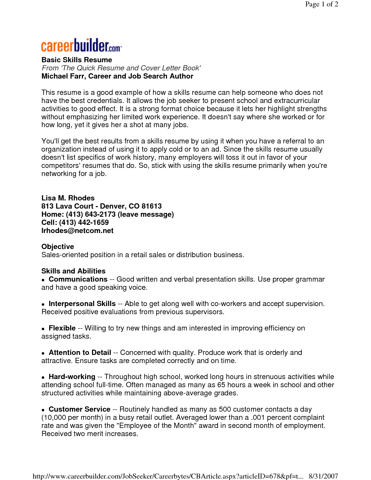 Find Here The Sample Resume That Best Fits Your Profile In Order