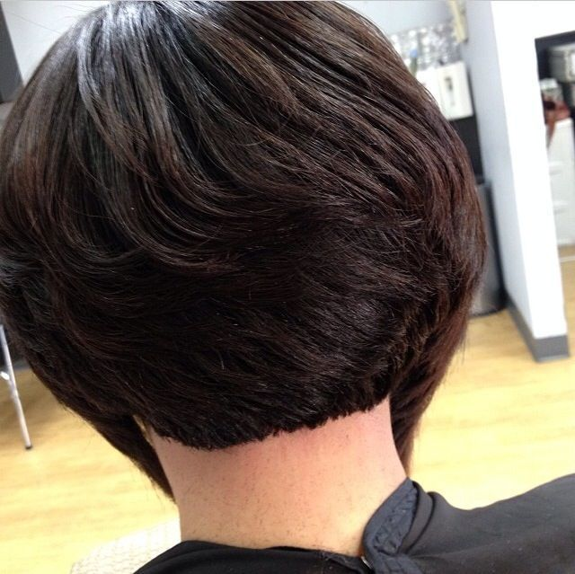 Short Bob Hairstyles For Black Women Back View Bobs Pinterest