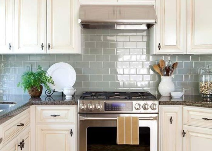 Kitchen backsplash also ideas subway tiles kitchens and blue glass tile