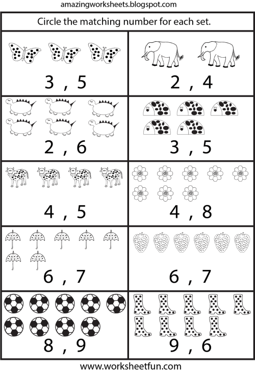 small resolution of Numbers For Kindergarten Worksheets