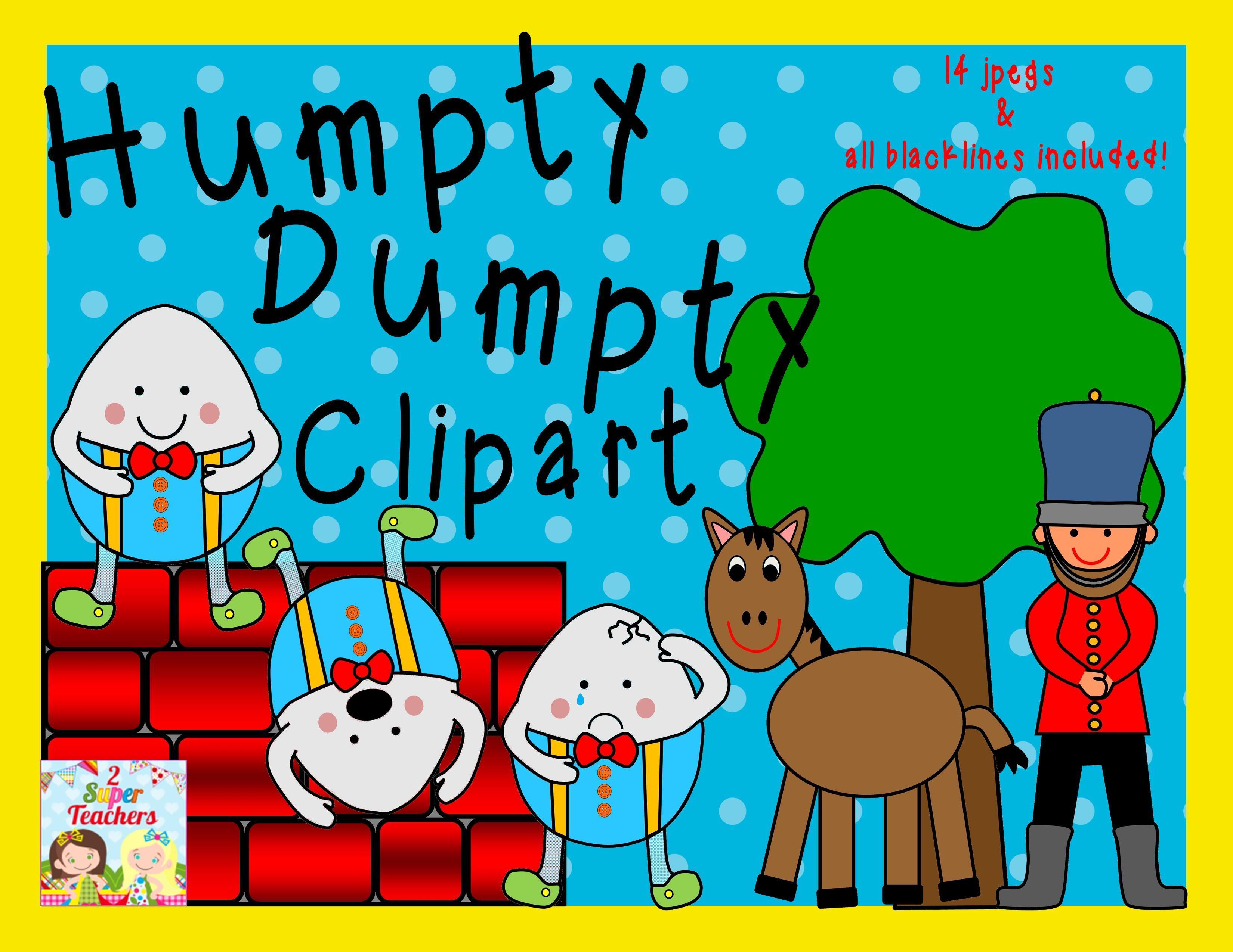 Humpty Dumpty Clipart Pack 14 S Amp All Blacklines Included 2super Teachersspot