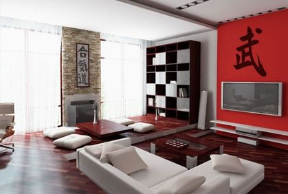 Decoration asian style living room interior design wooden cabinet white wall paint color table japanese inspired red pillow also best modern home decor makeovers remodeling ideas and rh pinterest