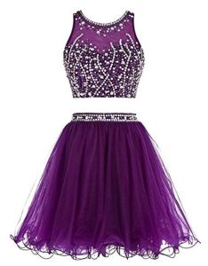 women  two pieces sequin beaded crop top prom gown homecoming dress purple from rainbow umbrella also rh in pinterest