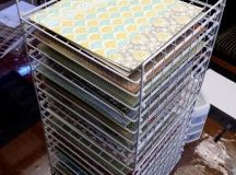 Making a Great Scrapbook Paper Rack from cube storage ...
