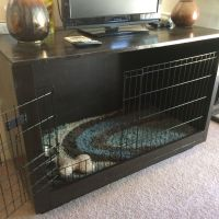 DIY furniture dog crate tv stand dog bed | pets ...