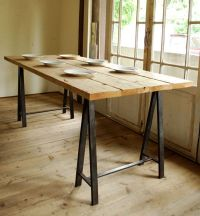 Iron (saw horse) Leg Table | Furniture - Tables ...