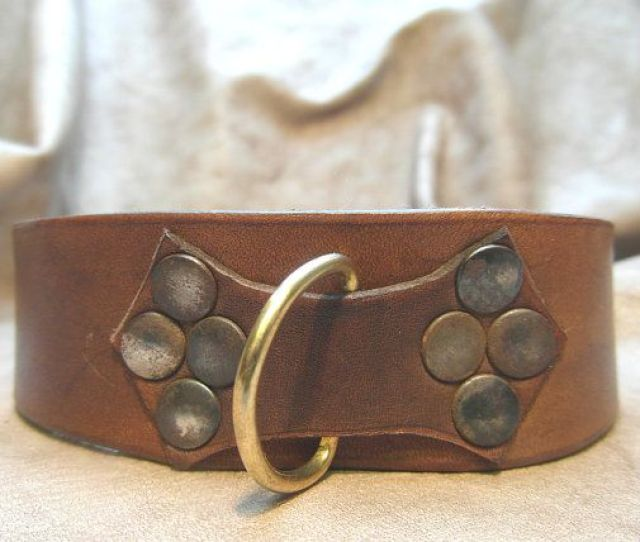 Leather  C B Brown Leather Slave Collar Submissve By Theleatherlaboratory