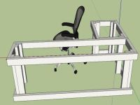 l shaped desk plans diy - Google Search | Projects ...