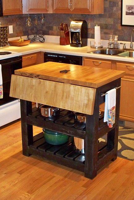 drop leaf butcher block kitchen island pinterestingrenters forrentcom  Home  Pinterest