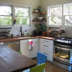 Cheap Ways To Redo Kitchen Cabinets Fingerhut Bungalow Small Renovation; Wood Counters, Orb ...