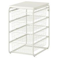 ALGOT Frame/4 wire baskets/top shelf - IKEA | shelves n ...