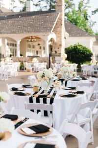 Black-And-Gold-Wedding-Decorations-Outdoor-Table-Setting ...