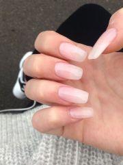 nude clear acrylic ballerina nails