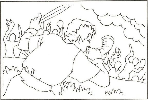 Gideon Bible Coloring Pages Sketch Coloring Page