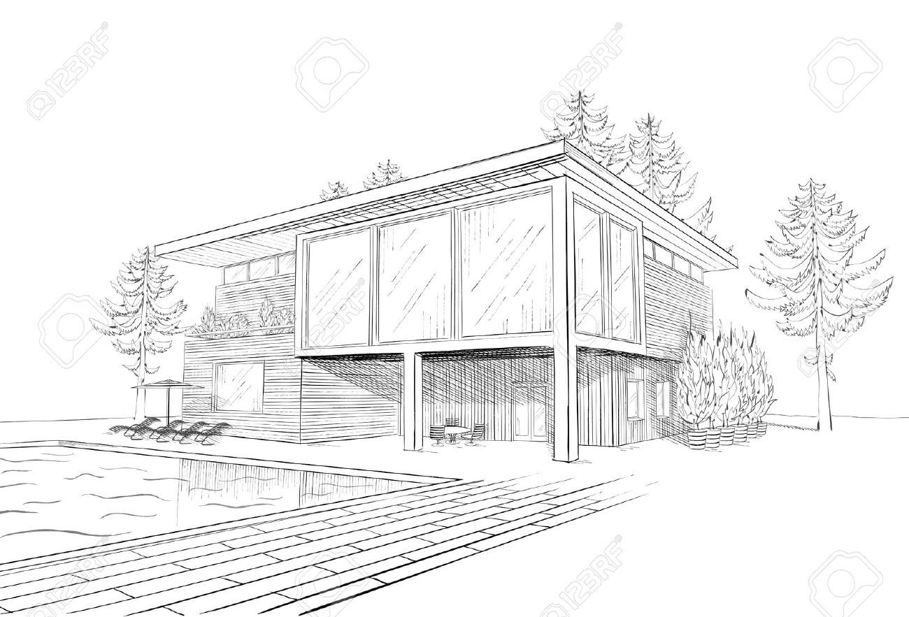Architect Inspired Modern Made Houses Drawings Modern House