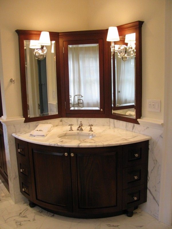 Corner Bathroom Vanity on Pinterest  Corner Sink Bathroom Corner Vanity and Corner Bathroom Sinks