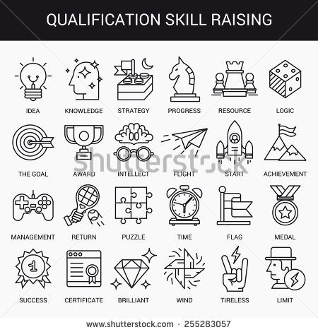 Skills Icon Stock Photos, Images, & Pictures