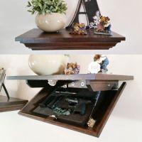 Hidden Gun Cabinet Wall Shelf | My husband | Pinterest ...