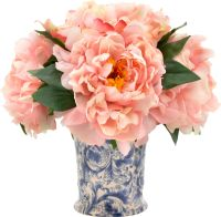 Faux Pink Peony Arrangement in Chinoiserie Vase | Products ...