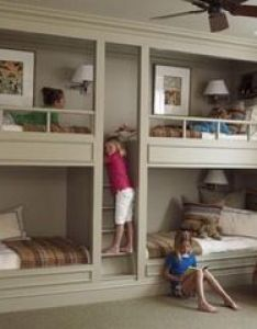 Another idea for my dream home built in bunk beds great space  kids room also contemporary bedroom small building your own rh pinterest