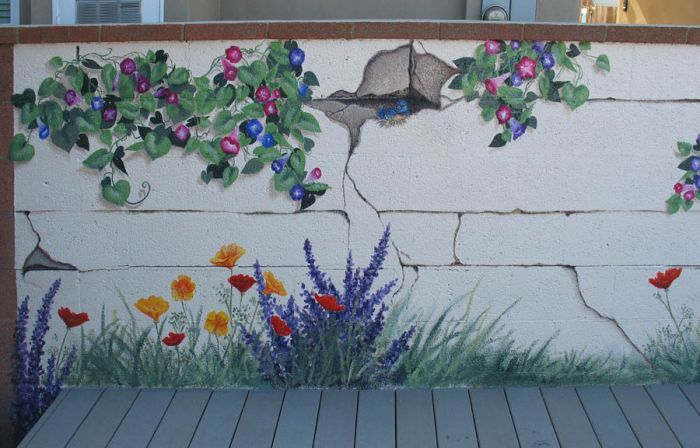 Garden Mural What A Great Idea No Watering Or Worrying About