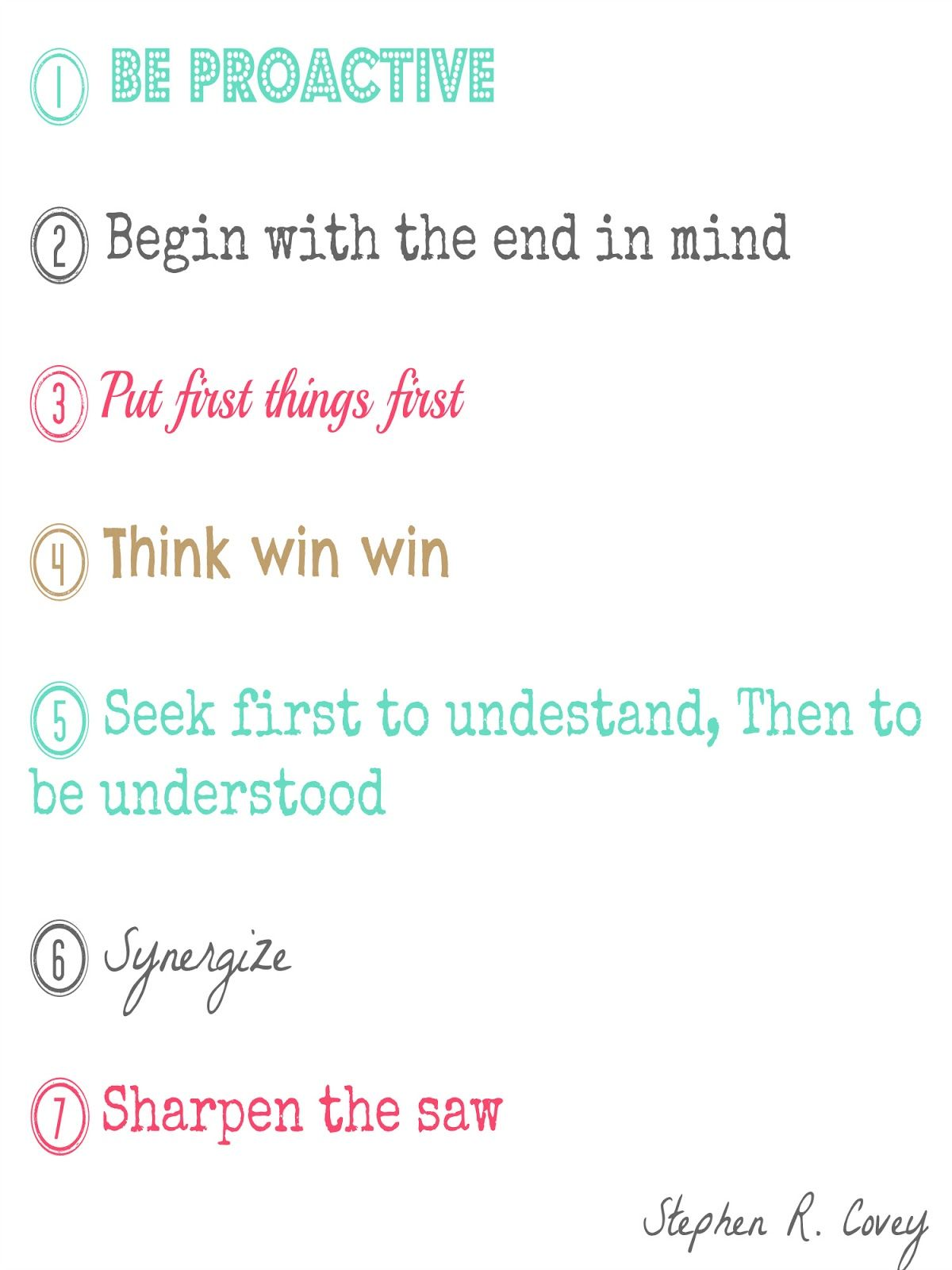 The Seven Habits Of Highly Effective People Stephen Covey