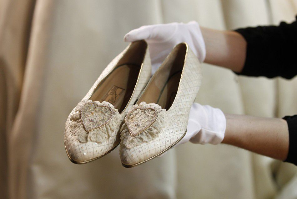 Image result for lady diana wedding shoes