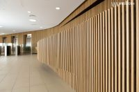 American white oak curved wall interior application ...