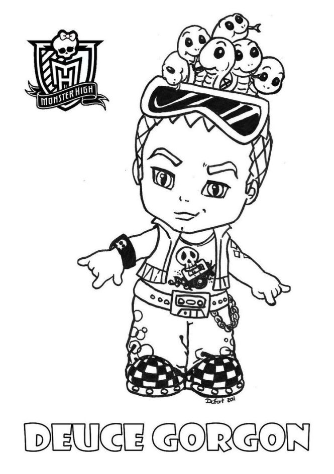 monster high baby coloring pages who is the hottest - Monster High Baby Coloring Pages