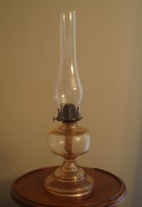 Antique Oil Lamp Pink Depression Glass | From Days Gone By ...