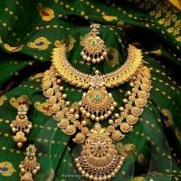 Gold Bridal Jewellery Set from Anagha Jewellery   Gold ...