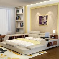 luxury bedroom furniture sets modern fabric king size ...