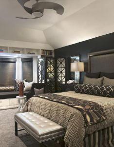 Art deco bedroom in indian trail open shelving dark wood legs by interiors decorating den pinterest also rh