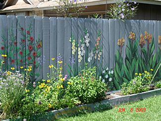 I Want To Paint The Fence I Can't Seem To Keep Flowers Alive So