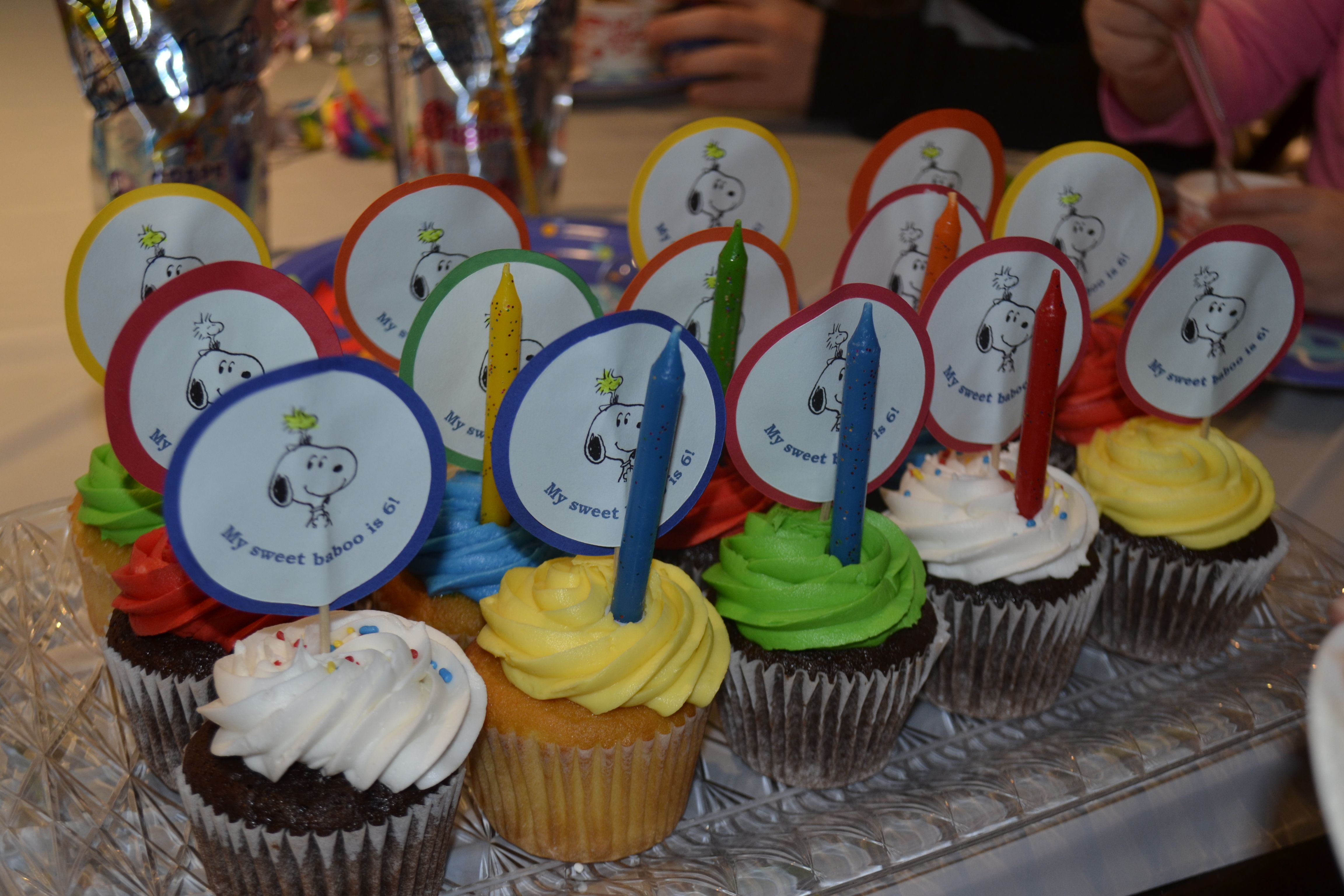 Snoopy Cup Cake Toppers