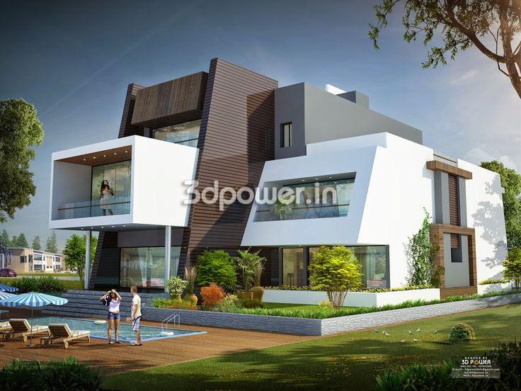 Exterior Modern Home Fair With Ultra Modern Home S House 3d