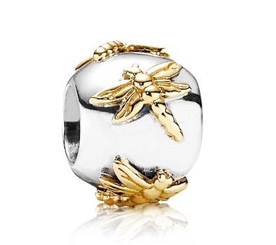 Gold And Silver Pandora Dragonfly Charm Pandora