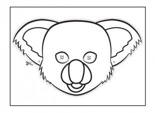 This koala animal mask template will keep your kids