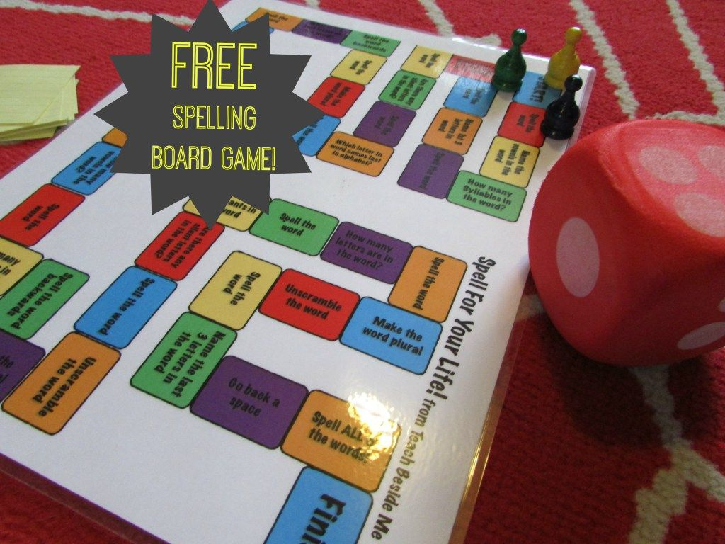 Spell For Your Life Printable Spelling Game Board