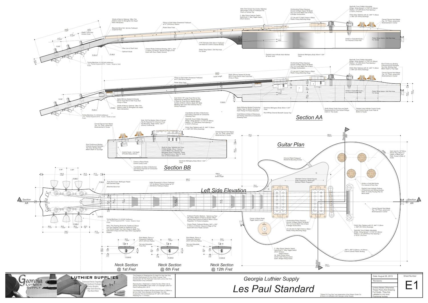 wiring diagram for les paul style guitar diagrams give information about body dimensions Идеи для дома pinterest